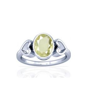 African Yellow Sapphire Sterling Silver Ring - K12