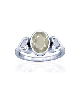 White Quartz Sterling Silver Ring - K12
