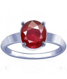New Burmese Ruby Sterling Silver Ring - K14