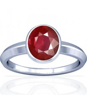 African Ruby Sterling Silver Ring - K1