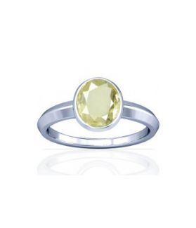 African Yellow Sapphire Sterling Silver Ring - K1
