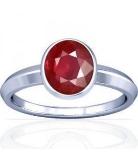 Non Heated Natural Mozambique Ruby Sterling Silver Ring - K1