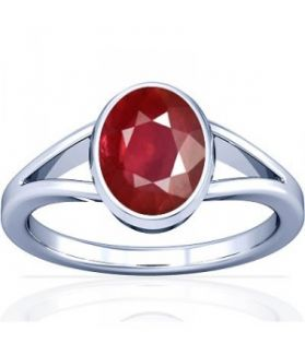 African Ruby Sterling Silver Ring - K2