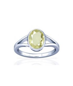 African Yellow Sapphire Sterling Silver Ring - K2