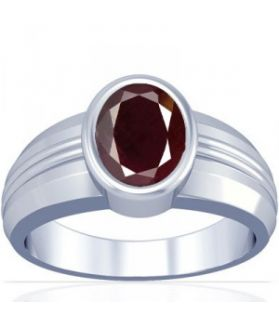African Ruby Sterling Silver Ring - K4