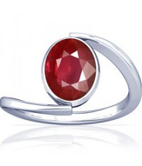 Non Heated Natural Mozambique Ruby Sterling Silver Ring - K6