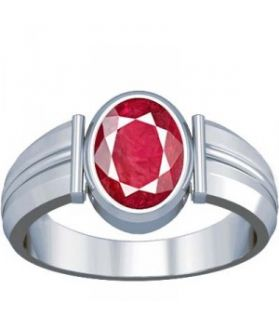 African Ruby Sterling Silver Ring - K8