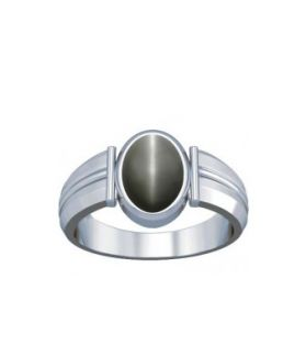 Natural Cats Eye Sterling Silver Ring - K9