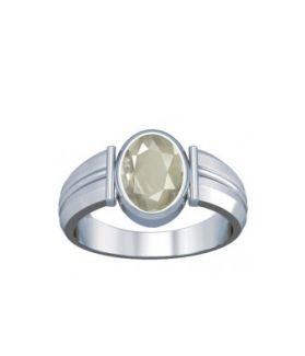 White Quartz Sterling Silver Ring - K9