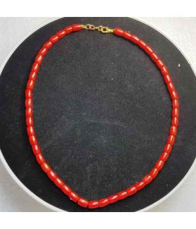 Red Coral Rosary 27 Gram (Length 18 Inch)