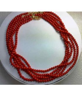 Red Coral Rosary 38 Gram (Length 18 Inch)