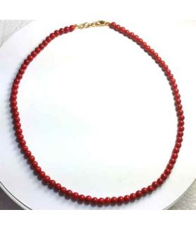 Orangish Red Coral Rosary 16 Gram (Length 18 Inch)