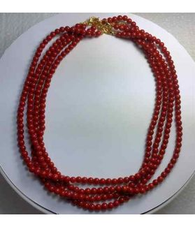 Red Coral Rosary 18 Gram (Length 18 Inch)