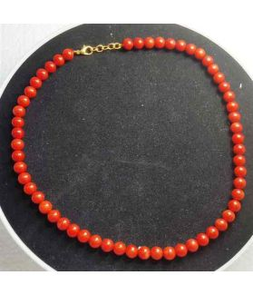 Red Coral Rosary 36 Gram (Length 18 Inch)