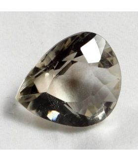 9.38 CT Smokey Quartz Natural  Pear Cabachon Shape 16.85x12.57x8.57mm