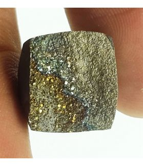 8.32 Carats Natural Spectro Pyrite Druzy 12.78 X 11.88 X 4.27 mm