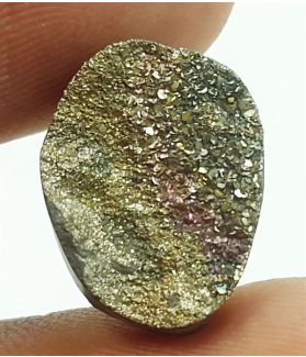 5.8 Carats Natural Spectro Pyrite Druzy 14.31 X 11.02 X 4.63 mm