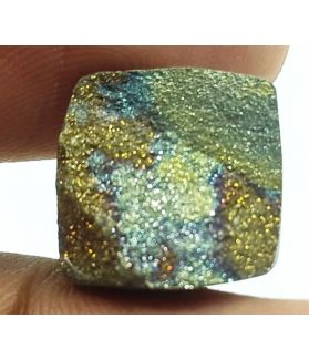 4.32 Carats Natural Spectro Pyrite Druzy 12.41 X 12.27 X 4.45 mm