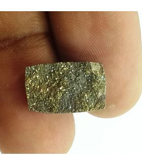 3.58 Carats Natural Spectro Pyrite Druzy 13.47 X 9.08 X 3.71 mm