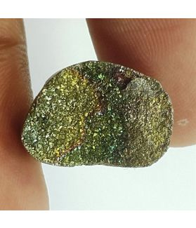 6.88 Carats Natural Spectro Pyrite Druzy 15.90 X 10.91 X 4.34 mm