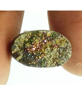 5.22 Carats Natural Spectro Pyrite Druzy 13.87 X 9.03 X 4.17 mm