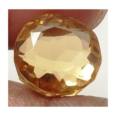 7.20 Carats Natural Yellow Citrine 11.39 x 10.53 x 8.15 mm