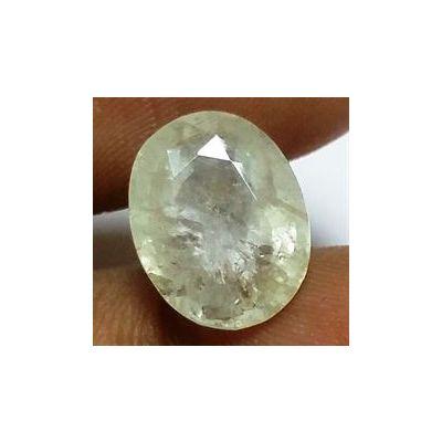 5.95 Carat Ceylon Yellowish Green Sapphire