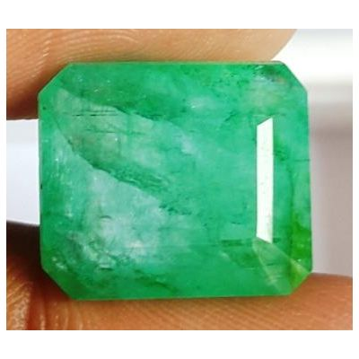 11.53 Carats Natural Columbian Emerald 14.85 x 13.00 x 6.81 mm