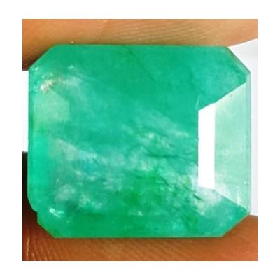 10.11 Carats Natural Columbian Emerald 13.81 x 11.89 x 7.12 mm