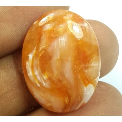 13.72  Carats Natural Orange opal Oval Shaped 23.53x17.84x5.23 mm