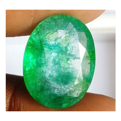 10.10 Carats Natural Columbian Emerald 16.97 x 13.14 x 6.66 mm