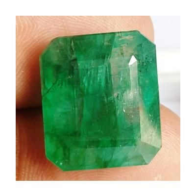 16.34 Carats Natural Zambian Emerald 16.36 x 14.22 x 8.14 mm