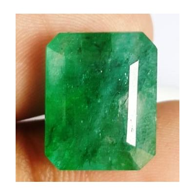 11.20 Carats Natural Zambian Emerald 14.84 x 11.87 x 7.51 mm