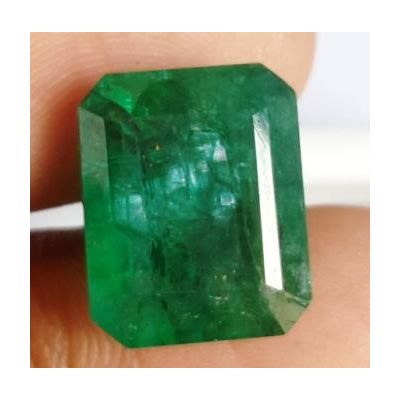 10.25 Carats Natural Zambian Emerald 14.20 x 11.53 x 7.24 mm