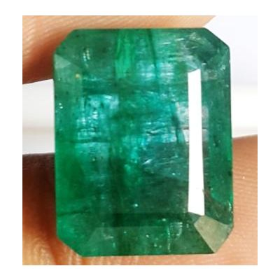 11.31 Carats Natural Zambian Emerald 15.03 x 11.77 x 7.14 mm