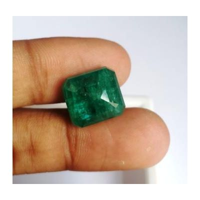 12.47 Carats Natural Zambian Emerald 13.60 x 12.57 x 8.48 mm