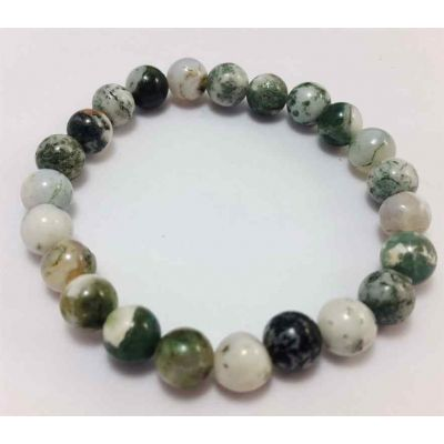 17 Gram Tree Agate Bracelet Bead Size 8 MM (Length 8 Inch)