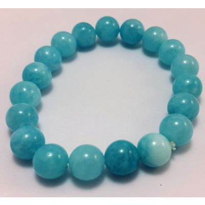 19 Gram  Aquamarine Bracelet 8 MM (Length 8 Inch)