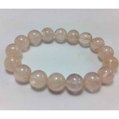 22 Gram Rose Quartz Bracelet BEAD SIZE 8 MM (LENGTH 8 INCH)