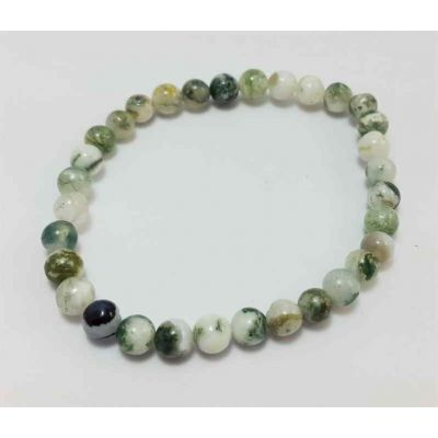 26 Gram Tree Agate Bracelet Bead Size 10 MM (Length 8 Inch)