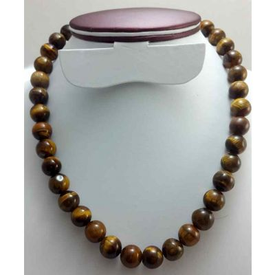 46 Gram Tiger Eye Stone Rosary Bead Size 8 MM (Rosary Length 19 Inch)