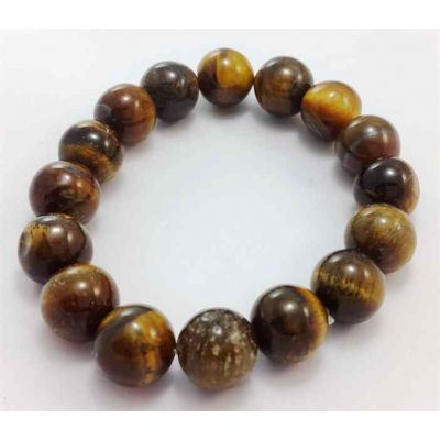 19 Gram Tiger Eye Stone Bracelet Bead Size 8 MM (Bracelet Length 8 Inch)