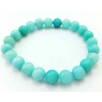 16 Gram Sky Blue Jade Bracelet Bead Size 8 MM (Length 8 Inch)