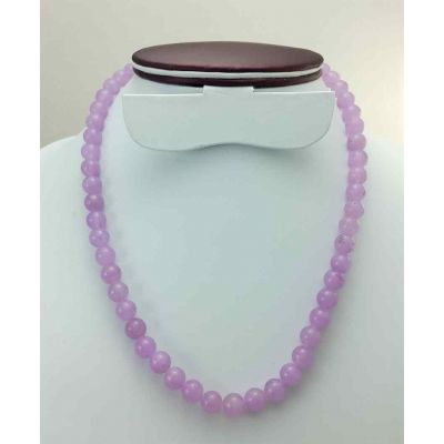 43 Gram Purple Jade Rosary Bead Size 8 MM (Length 19 Inch)