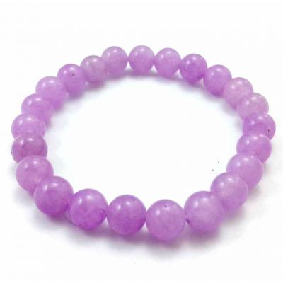 17 Gram Purple Jade Bracelet Bead Size 8 MM (Length 8 Inch)
