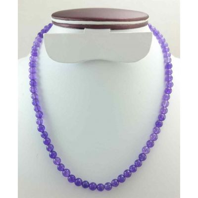23 Gram Purple Jade Rosary Bead Size 6 MM (Length 19 Inch)