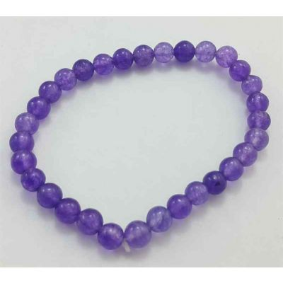 10 Gram Purple Jade Bracelet Bead Size 6 MM (Length 8 Inch)