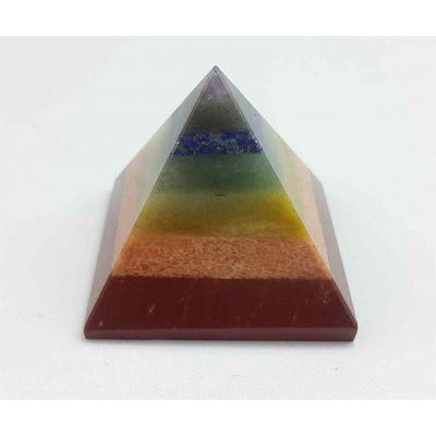 Seaven Chakra Pyramid 61 x 82 mm