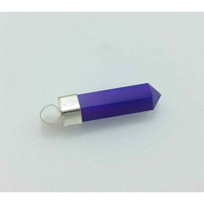 Blue Agate Pencil Pendent 32 x 8 mm