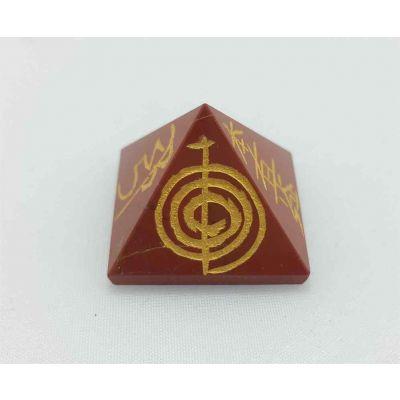 Healing Red jasper Gemstone Pyramid 19 x 24 mm